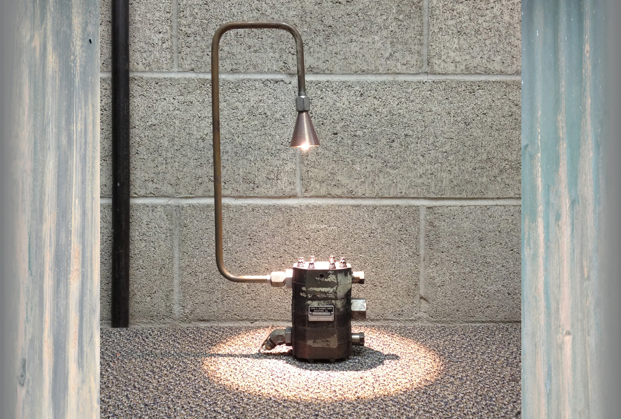 Upcycled Industrial lamp lighting