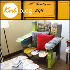 krrb blog upcycled skateboard furniture