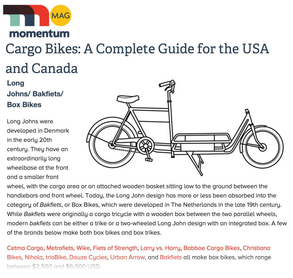 Momentum Magazine momentummag long john cargobike cargo bike bakfiets retrofiet