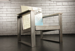 upcycled recycled snowboard burton chair furniture