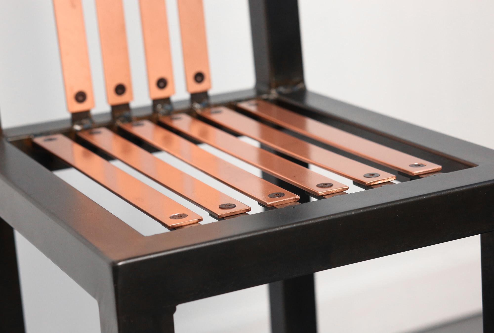 saint furniture handmade copper chair