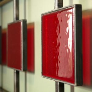 glass bed headboard steel pdx design portland