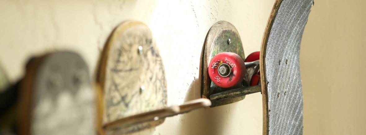 upcycled skateboard hooks recycled pdx portland
