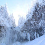 tamawanas falls oregon snow photography waterfall